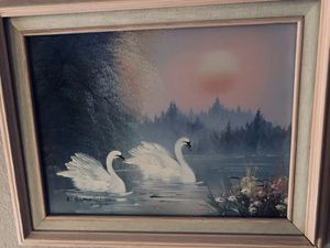 Swans Oil on Canvas for Sale in Surprise, AZ