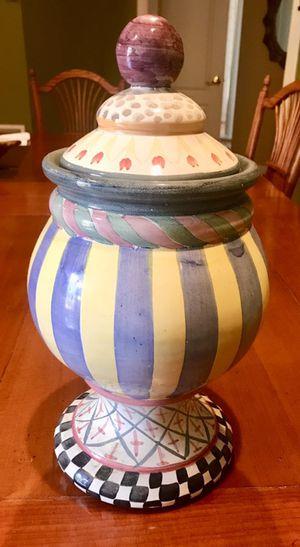 Mackenzie Childs retired cookie jar for Sale in Rockville, MD