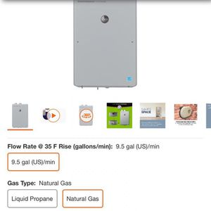 Rheem Performance Platinum 9.5 GPM Natural Gas High Efficiency Indoor Tankless Water Heater for Sale in Long Beach, CA