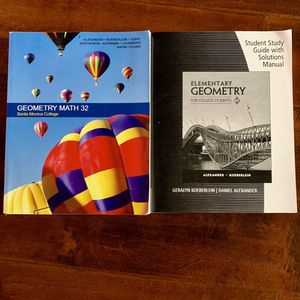 Geometry College Textbook For Santa Monica College. Geometry Math 32 for Sale in Los Angeles, CA