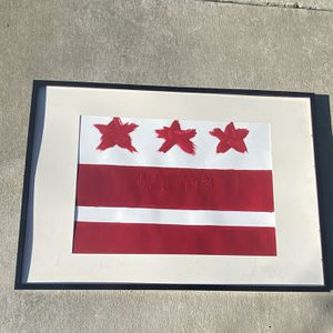 Framed DC flag. Oil Painted for Sale in Germantown, MD