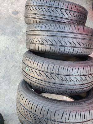 I sell this set of tires. ...BRIDGESTONE TURANZA....SIZE 215/55/17....with 85% for Sale in El Monte, CA