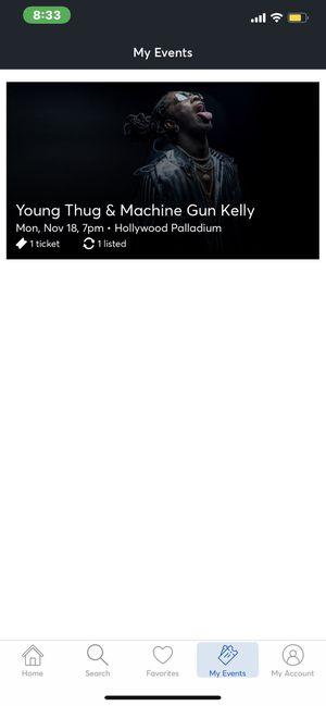 Ticket Young Thug Machine Gun Kelly for Sale in Anaheim, CA