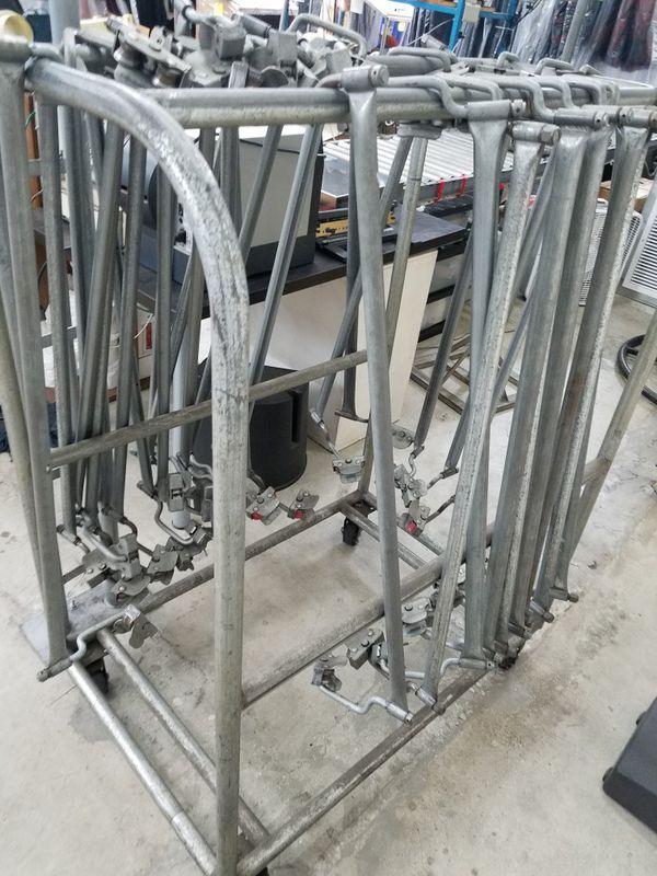 Goh rail Trolleys for garment rack system