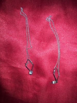 Diamond chain dangle earrings for Sale in Everett, WA