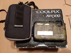 camo Nikon Coolpix aw100 16 MP for Sale in Loma Linda, CA