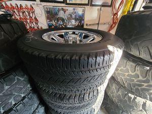 "Wheels and tires p275/60r17"" 6 lug Chevy Silverado Yukon suburban escalade avalanche gmc 6x5,5 or 6x139,7 for Sale in Riverside, CA"