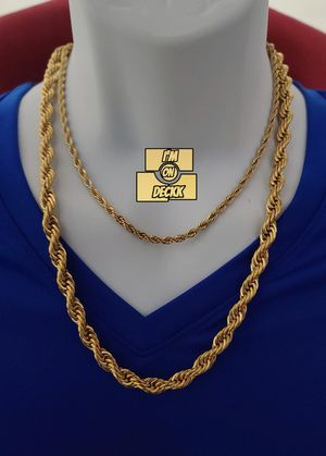 For both 🚨🚨🚨 14k Gold plated Rope Chain 🚨🚨🚨 I Deliver for Sale in Miami, FL