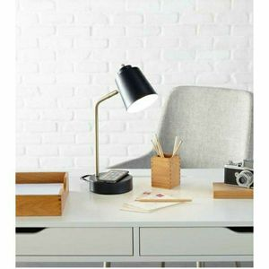 Brand new Scott Living 15-in Adjustable Brushed Nickel/Navy Desk Lamp PHONE CHARGER Check my page more lamps for Sale in Auburn, WA