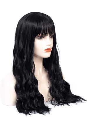 Wavy Black Wig With Bangs for Sale in Henderson, NV