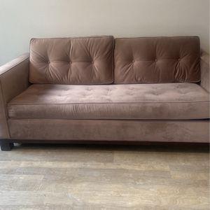 Tan Microsuade Sleeper Sofa for Sale in Culver City, CA