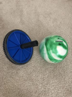 Exercise ball and abs wheel for Sale in Rockville, MD