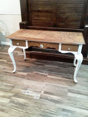 Beautiful solid wood French desk with custom knobs for Sale in San Diego, CA
