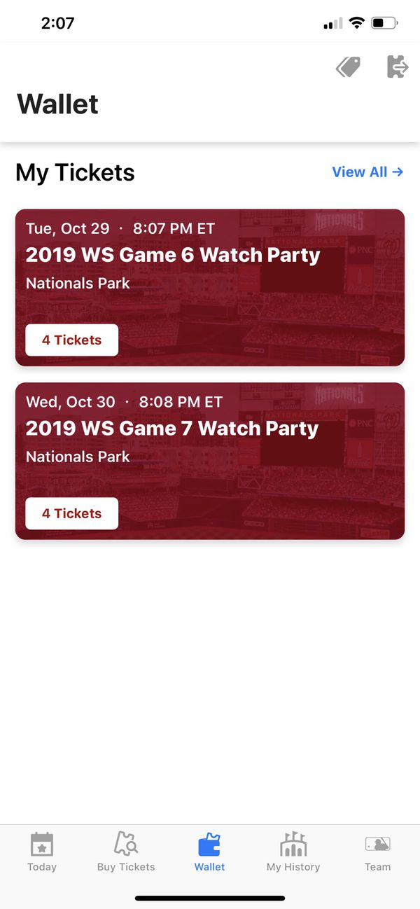 2019 World Series Game 6 Watch Party 10/29/2019 8:07PM