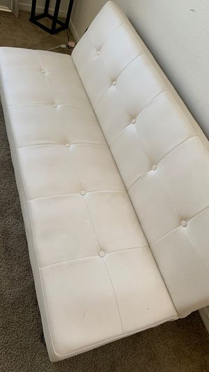 2 white leather futons , 100$ for Sale in Corona, CA
