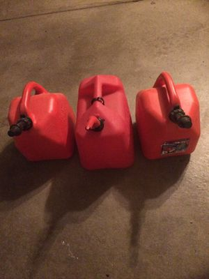 3 Five Gallon Gasoline Canisters for Sale in Canonsburg, PA