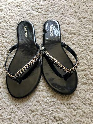 Bebe back gold/silver sandals for Sale in Tampa, FL