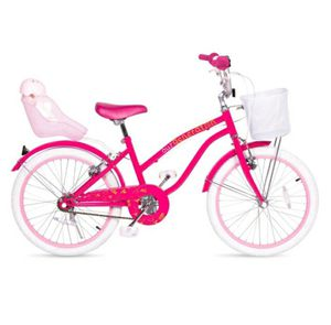 """Girls 20"""" bike with baby doll seat on back and basket on front for Sale in Lilburn, GA"""