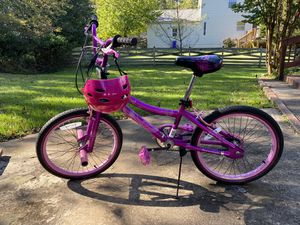 Girls Bike + Helmet for Sale in Bowie, MD