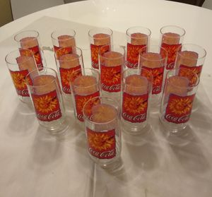 Vintage 1995 Coca Cola glasses glass sets collectables set of 15 90s Coca Cola bear for Sale in Las Vegas, NV