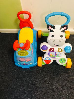 Baby walker zebra and baby car peppa pig for Sale in Adelphi, MD