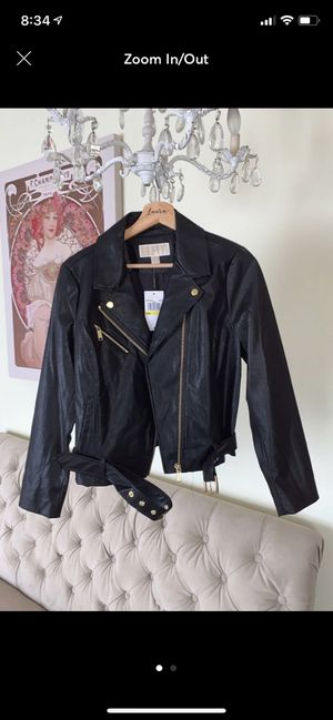 Michael Kors Belted Moto jacket Large for Sale in Caldwell, ID