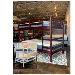 Twin Over Two Bunk Bed Plus Mattress (Free Delivery ) for Sale in Austin,  TX