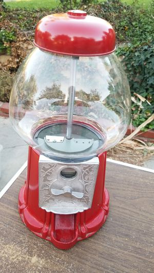 Cast iron red gumball machine for Sale in Glendale, CA