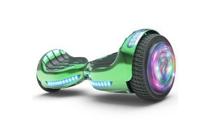 """Flash Wheel Certified Hoverboard 6.5"""" Bluetooth Speaker with LED Light Self Balancing Wheel Electric Scooter - Chrome Green for Sale in Tamarac, FL"""