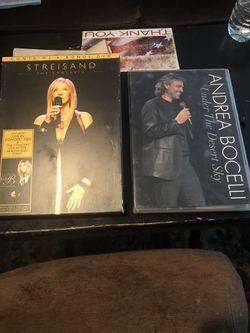 DVDs 3 Disic Streisand /AndreaBorcelli $20 each for Sale in Clovis,  CA