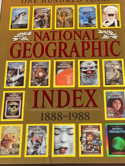 NATIONAL GEOGRAPHIC INDEX ONE HUNDRED YEARS 1888-1988. BOOK, CASE & BONUS MAPS for Sale in Temple City,  CA