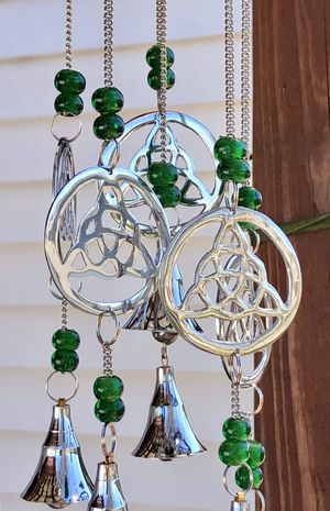 Celtic Knot Glass Beads Wind Chime Mobile for Sale in Nashville, TN