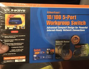Linksys 5-Port Workgroup Switch (Never Opened) for Sale in Phoenix, AZ