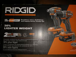 Ridgid BRUSHLESS Drill Driver and impact Driver Combo Kit for Sale in Clovis, CA