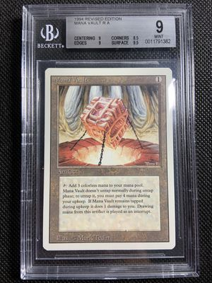 1994 mtg magic the gathering revised mana vault bgs 9 mint 🔥🔥🔥 for Sale in La Mesa, CA