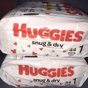 2 🔥Bags Of Huggies Snug & Dry Size 1 $12 Firm On Price for Sale in Glendale, AZ