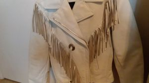 White leather jacket with fringes for Sale in Clackamas, OR