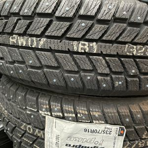 2 Hankook Winter Tires 235/70R16 Brand New $140 Tires have studs for Sale in Issaquah, WA