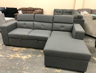 🚛SAMEDAY DELIVERY 🚚Salado Gray Sleeper Sectional with Storage $39 Down Payment 💳 for Sale in Beltsville,  MD