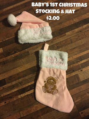 Baby's 1st Stocking & Hat for Sale in Peyton, CO