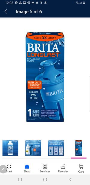 Brita longlist replacement filter for Sale in Roseville, CA