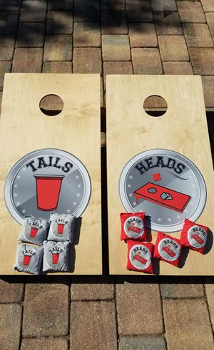New! Cornhole lawn game corn hole bag toss game for Sale in Cooper City, FL