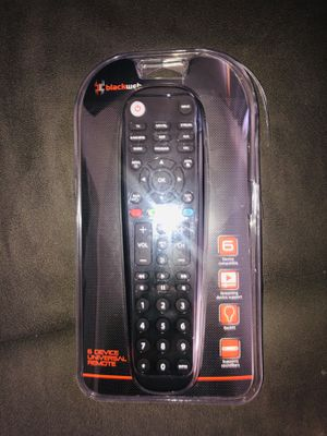 Universal Remote (6 Device) Black Web for Sale in Wilkes-Barre, PA