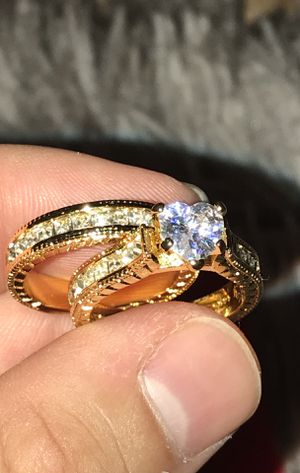 TWO Gold Heart Wedding Rings for ONE Price!!! for Sale in Riverside, CA