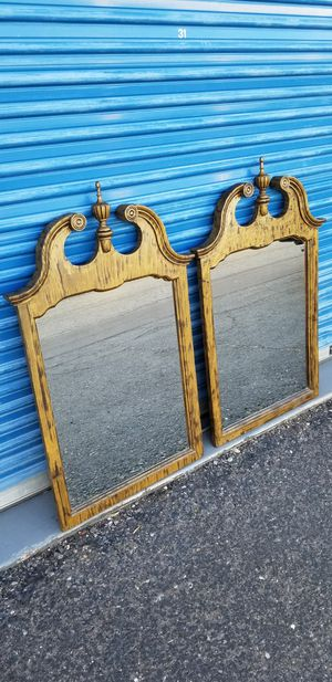 """2 Queen Anne style mirrors. Each measures: 30"""" wide x 48"""" tall. for Sale in Phoenix, AZ"""