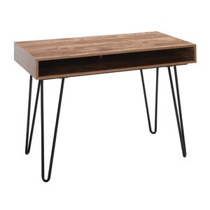 """44"""" Writing Desk with Storage Hairpin Legs in Black/Knotty Oak Home Office Furniture for Sale in Los Angeles, CA"""