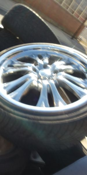 22 inch rims with new tires for Sale in Newark, OH