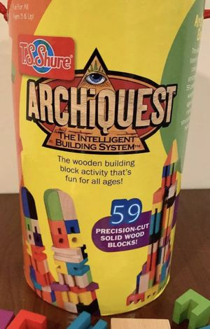 ArchiQuest Wood Builing Blocks Complete Kit With Box! Precision Cut! for Sale in Lemont, IL