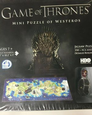 4D Cityscape Game of Thrones Mini Puzzle OF Westeros (350Piece) HBO for Sale in Worcester, MA