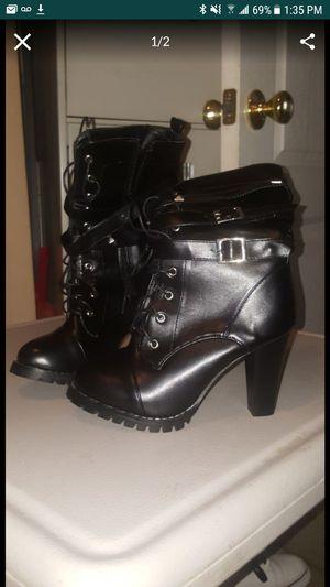 Womens combat heel boots 6-6.5 for Sale in Los Angeles, CA